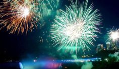 Niagra Falls Fireworks & Illumination. Every Fri & Sun while you are there. The best views are from the Table Rock, right at the brink of the Horseshoe Falls. All performances take place at 9 p.m. unless otherwise noted.