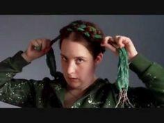 Hair Tutorial - Scarf Series: Renaissance Heidi Braids (LHC Hairstyle of the Month November 2011)