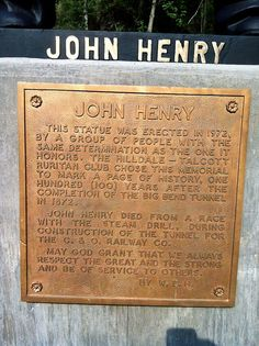 The John Henry statue in Talcott, WV