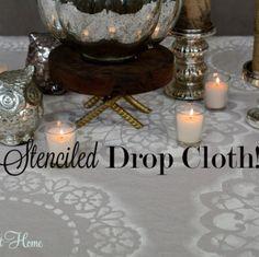 Video Tutorial : Stenciled Drop Cloth!