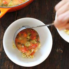 crock pot, minestron soup, crockpot