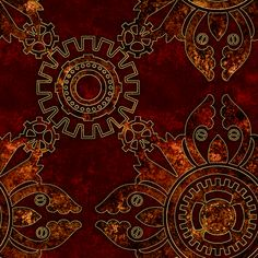 Steampunk Simple 2 fabric by jadegordon on Spoonflower - custom fabric