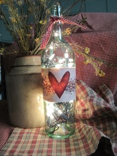 Valentine Bottle Light