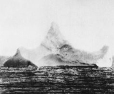 This photo of an iceberg was taken the next day in the area where the Titanic went down. It has been said that red paint could be seen on the iceberg. Whether this is a myth or not is unknown.