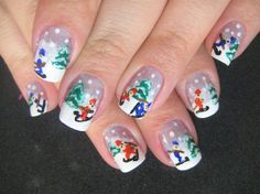 little people fall by lela from Nail Art Gallery