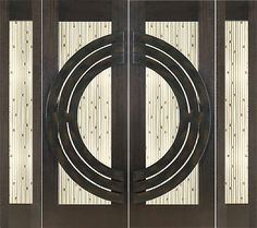 "Double 2-1-4"" Thick Mahogany Doors Sidelites Art Glass Iron Work $8728"