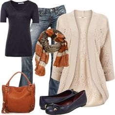 Perfect comfy but cute outfit for fall! Way to stick out...in a nice way!!! :) lol