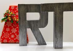 faux metal letters featured on twinkle and twine! @Rebekah Canavan