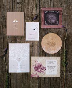 From rustic to classic, we have the perfect invitation for your big day. #davidsbridal #weddinginvitations #weddingideas