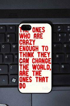 The Crazy Ones Quote Iphone 5 Case