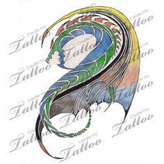 Marketplace Tattoo Tribal Dragon #2921 | CreateMyTattoo.com