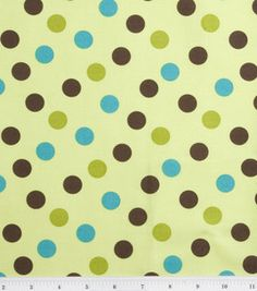 Stonehill Collections Cotton Fabric-Topsy Turvy Lime Large Dot : fabric :  Shop | Joann.com