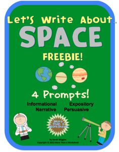 Let's Write about Space! Science Writing Prompt FREEBIE!! From UsingMyTeacherVoice