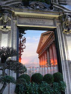 Sunset at Place de la Madeleine, Paris