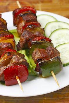 Receita internacional de espetinho de carne