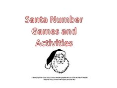 Santa Number Games and Activities