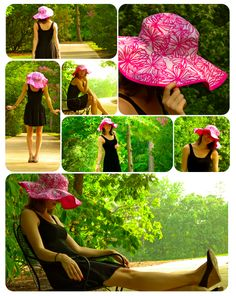 DIY Sun Hat - Sewing Tutorial, there is another tutorial on how to make your own pattern linked in this post.