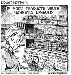If food products were honestly labelled. Yep! That would be just about right!!!