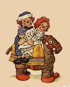 Raggedy Ann and Andy <3
