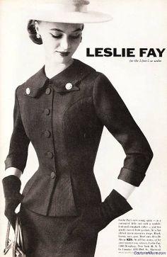 Leslie Fay suit, 1956.