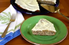 Zucchini-almond cake with cream cheese frosting
