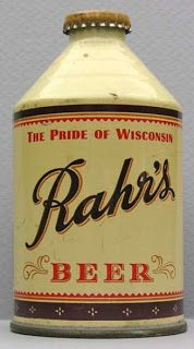 Rahr beer, originally brewed in Sconsin
