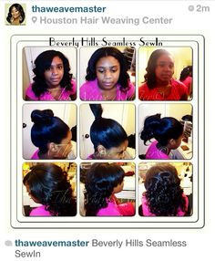 With This hair weave you are able to wear on different styles