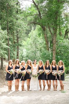 Rustic bridesmaid dress ideas. --- http://www.weddingchicks.com/2014/05/22/riley-grey-wedding-website/