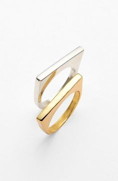 Argento Vivo Straight Edge Rings