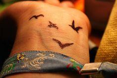 birds on wrist