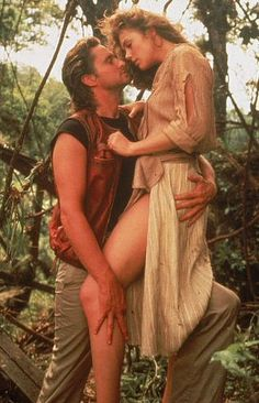 Jack Colton and Joan Wilder - Michael Douglas and Kathleen Turner - Romancing the Stone 1984