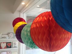 colorful tissue balls by Poppies for Grace