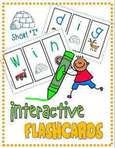 "Mini Interactive Student Flashcards (Short ""I""); Students create their own mini segmenting flashcards; reinforce letter/sound correspondence (RF.K.2d) #phonics"