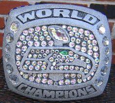 Seattle Seahawks Super Bowl ring hat