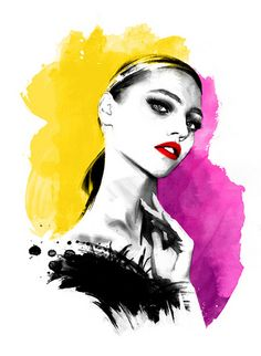 FLARE MAGAZINE CANADA - SASHA PIVOVAROVA by LUIS TINOCO - ILLUSTRATOR, via Flickr