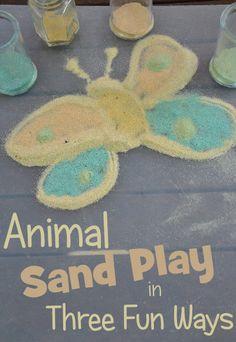 Animal Sand Play in Three Fun Ways