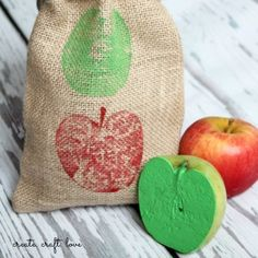 DIY Gift Bags and Apple Stamps