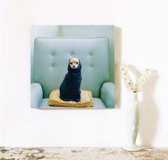 Mid Century for Her Chihuahua Art  10x10 Archival Photograph Pinky Novak. $50.00, via Etsy.