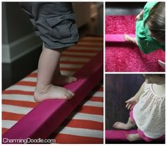 best looking & functional DIY balance beam I have found on pinterest yet.