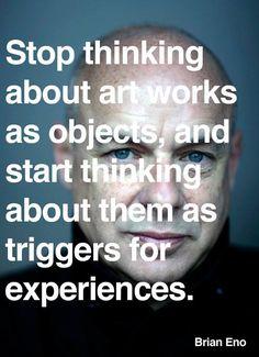 field, art quotes, artists, artworks, design art, bricks, the artist, inspiration quotes, brian eno