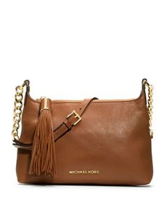 MICHAEL Michael Kors  Small Bedford Tassle Pebbled Messenger Bag.