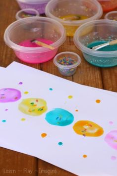 How to make frosting paint - tasty art for kids!