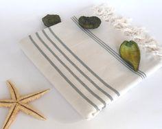 Turkish Bath Towel Peshtemal Natural Cotton Green by TheAnatolian, $28.00