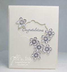 Stampin' Up! Wedding Card by Jill F: Petite Petals Wedding Card