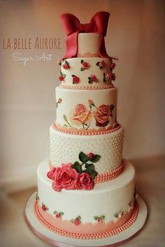 Indian Weddings Inspirations. Pink Wedding Cake. Repinned by #indianweddingsmag indianweddingsmag.com #vintage