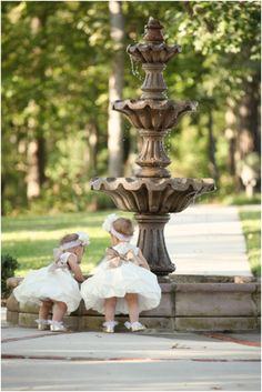 adorable flower girls with bows on their butts, Southern belle flower girls, little flower girls, rustic chic elegance wedding