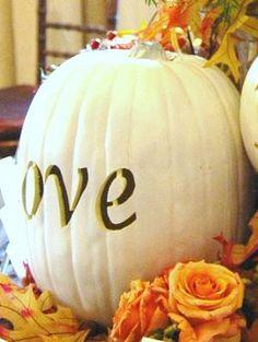 Wedding pumpkin