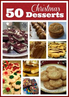 50 Christmas Dessert Recipes | The Happy Housewife food recip, christmas desserts, health dessert, christma dessert, christmas dessert recipes, dessert health, yummi recip, 50 christma, happi housewif