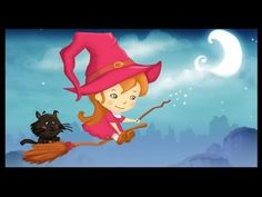 French Halloween cartoon, French witch song