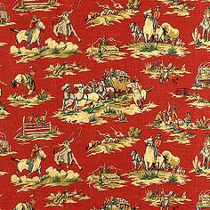 Wild West Red Fabric